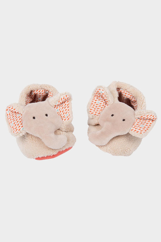 moulin roty baby elephant slippers