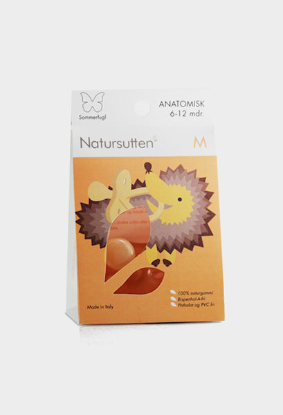natursutten natural rubber pacifier butterfly ortho