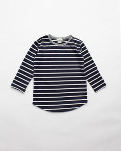 The Stripe Tee - Navy