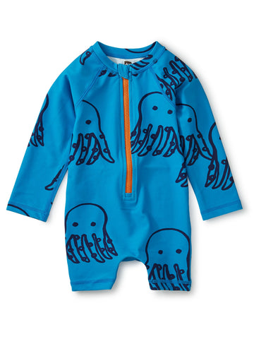 Octopi-Tile Printed Rash Guard (Baby)
