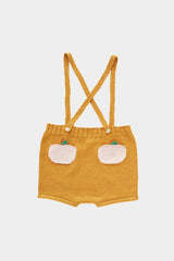 Ochre & Peach Pocket Suspender Shorts