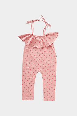 Rose Ruffle Jersey Overall