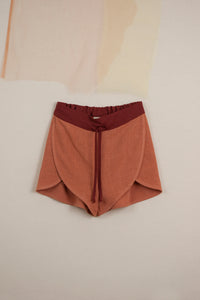 Orange Flutter Shorts