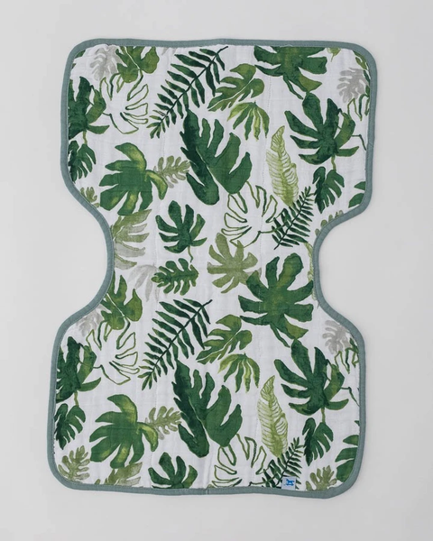 Muslin Burp Cloth - Tropical Leaf