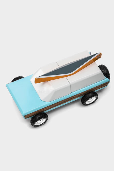 mid century wooden toy car