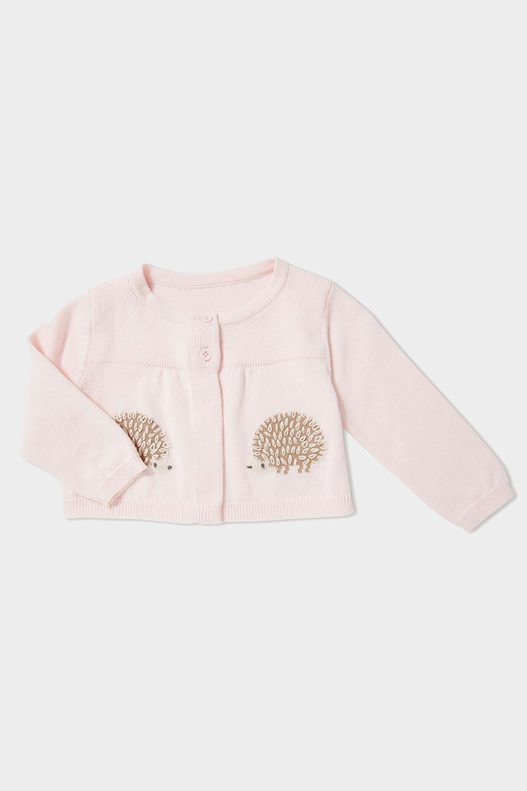 pink hedgehog swing cardigan