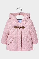 mayoral pink quilted parka