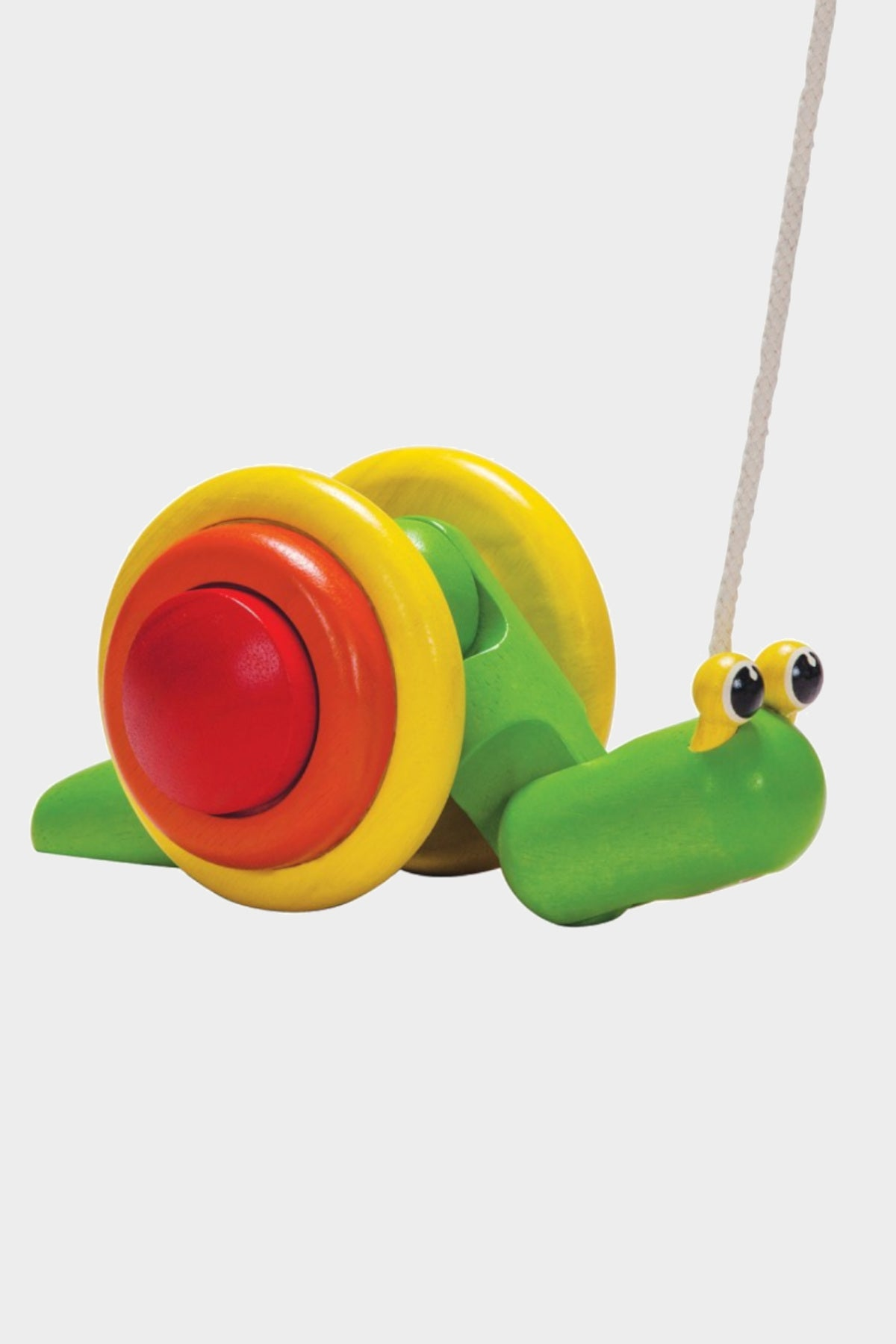 plan pull-along snail wood walking toy