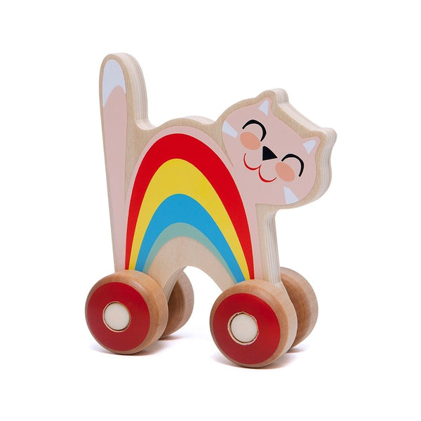 Wooden Push Toy Cat