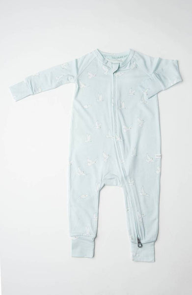 Peace Dove Zip Footed Romper