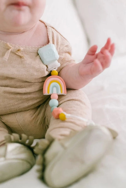 Darling Pacifier Clip  rainbow