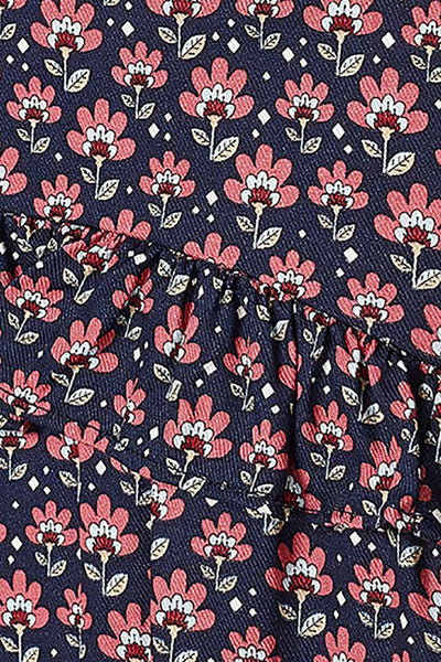 fabric detail on mayoral floral dress