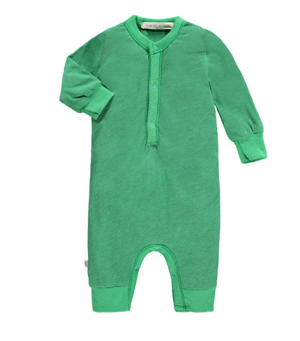 Heather Green Henley Coverall
