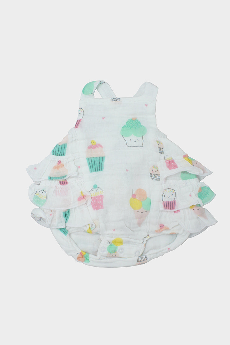 angel dear ruffle sunsuit
