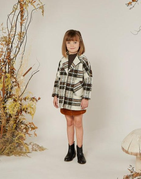 Fall Plaid Longline Coat