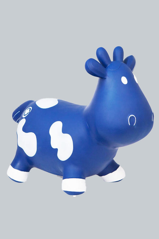 Howdy Balancing Toy Cow- Blue