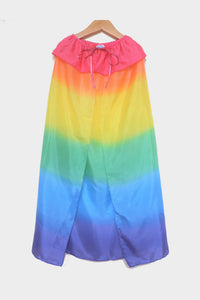 sarah's silks silk cape rainbow