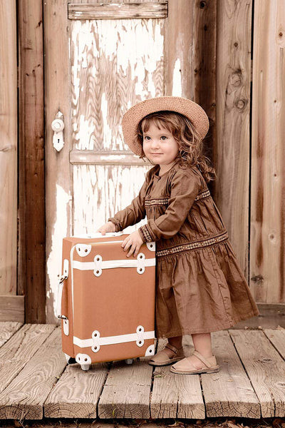 seeya suitcase rust ollie ella brown girl