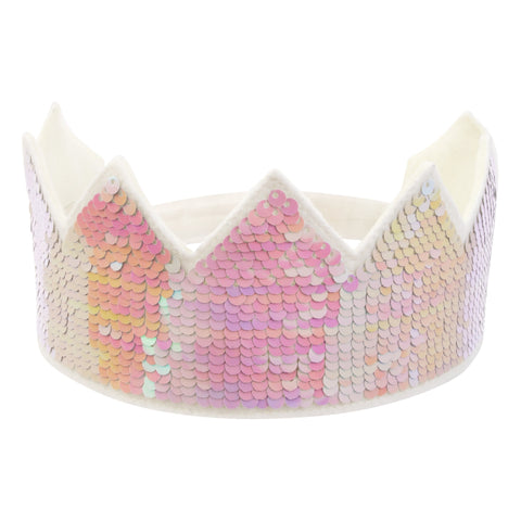 Pink Reversible Sequin Crown