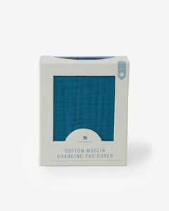 Cotton Muslin Crib Sheet - Lake Blue