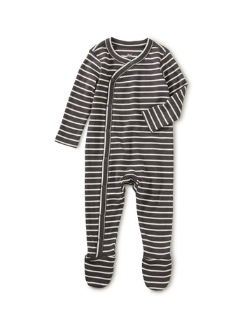 Pepper Stripe Footed Romper