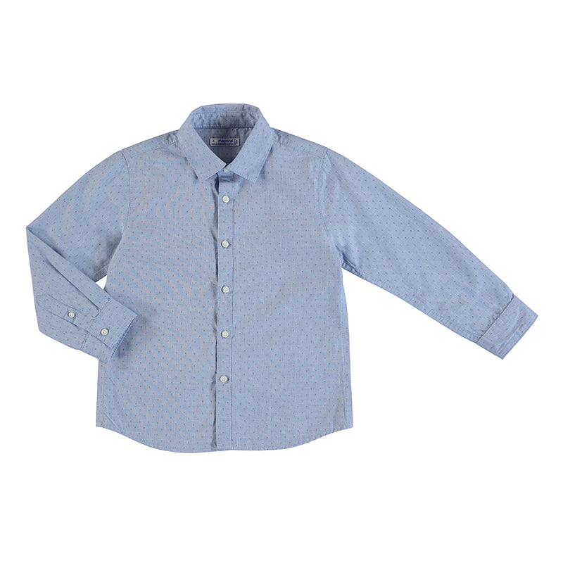 Speckle Blue Button Up Shirt