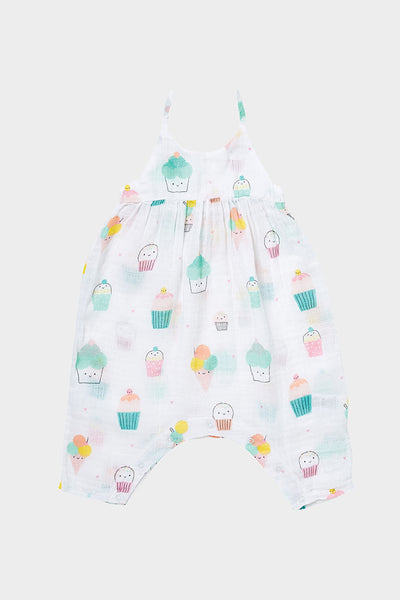 sprinkles bow back romper angel dear