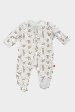silly sloth romper magnetic me
