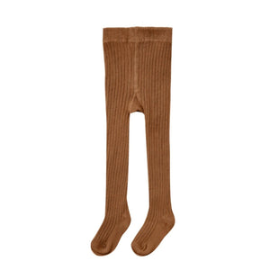 Cinnamon Rib Knit Tights