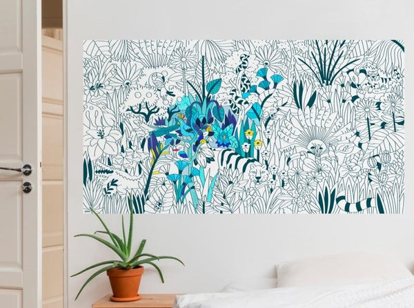 Tropical Giant Coloring Poster