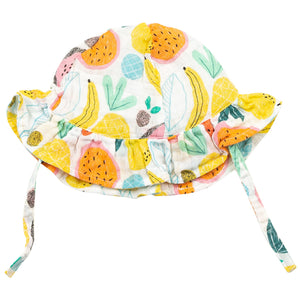 Tropical Fruit Ruffle Sunhat