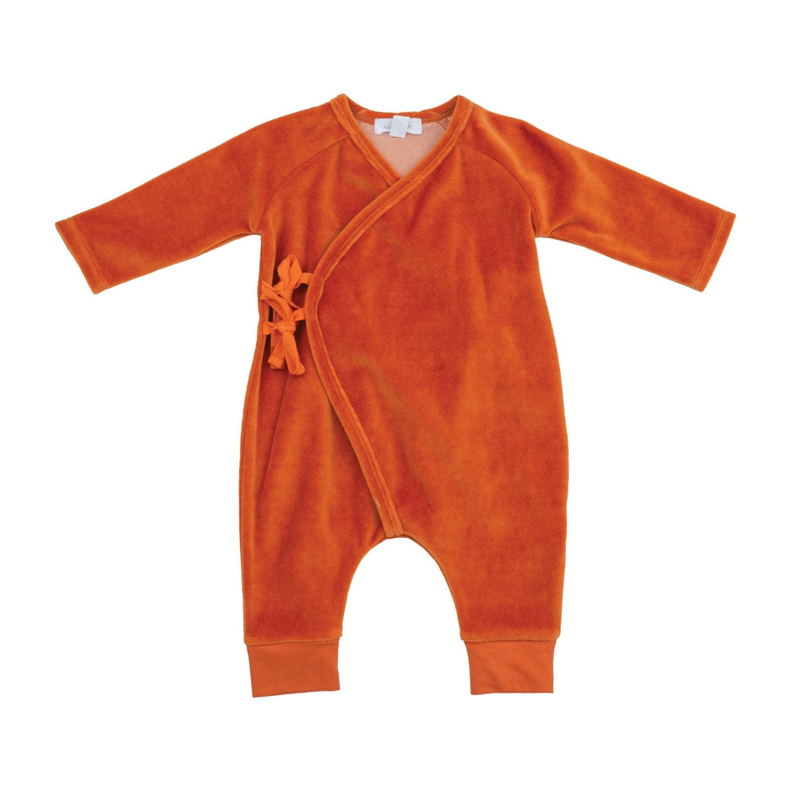 Velour Wrap Coverall Rust