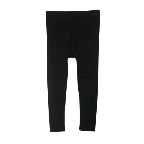 Black Knee Patch Leggings (Kid)