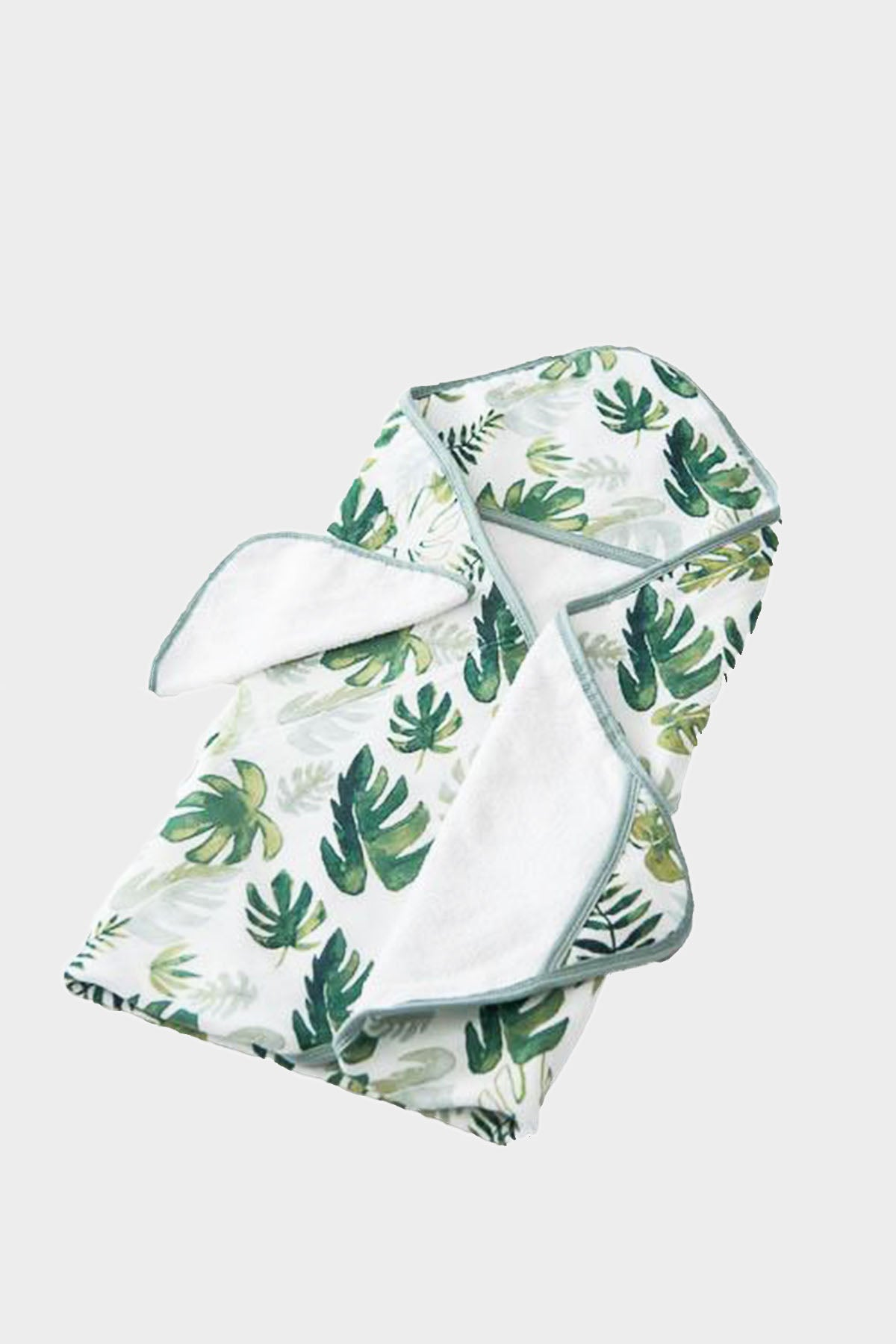 Tropical Leaf Hooded Towel & Wash Cloth Set