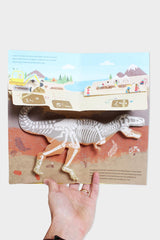 what's below book dinosaur page