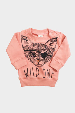 little pilgrim wild one baby sweatshirt