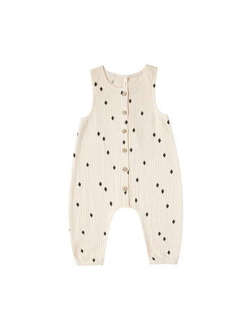 Natural Woven Diamonds Jumpsuit