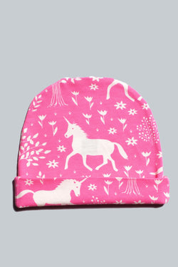 Pink Magical Forest Baby Hat