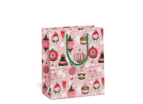 Retro Ornaments Holiday Gift Bag