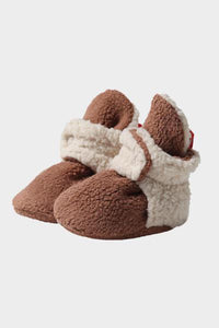 Chocolate Cozie Fleece Fur Lined Bootie