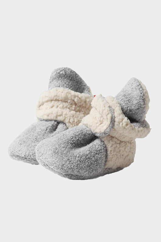 Heather Grey Cozie Fleece Fur Lined Bootie