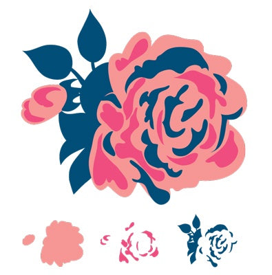 Rose Layered Stamp