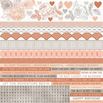12x12 Sticker Sheet - Peachy