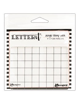 Letter It Acrylic Stamp Block