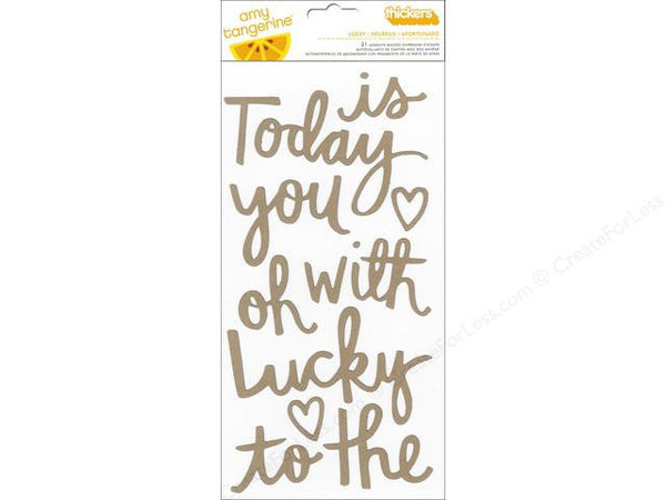 Thickers - Chipboard Kraft Words-Lucky
