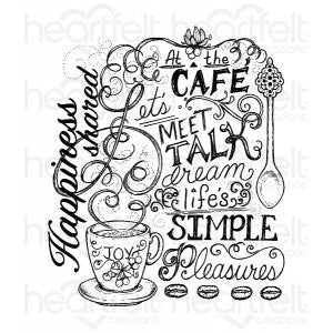 Coffee Talk Background Stamp - 3713