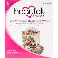 5x7 layered ovals card white