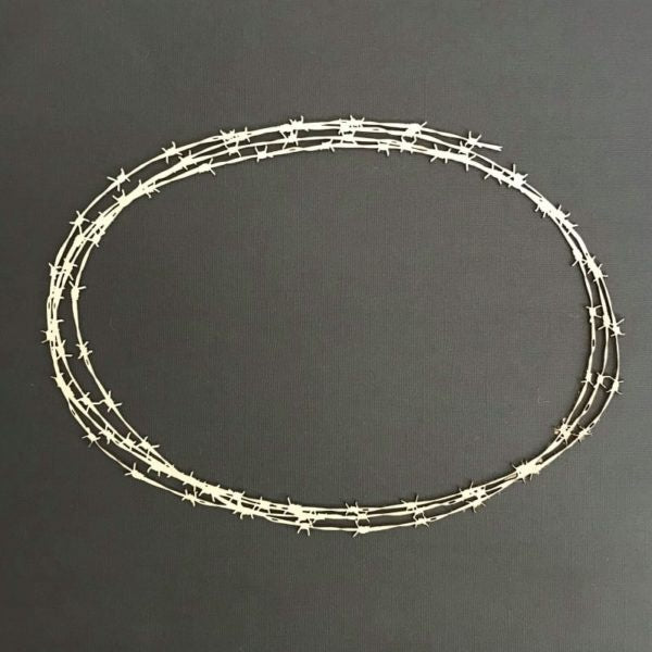 Barbed Wire Large Oval