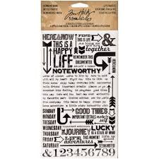 Tim Holtz Rub Ons - Life Quotes