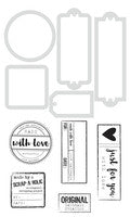 Handmade Labels Die & Stamp Set
